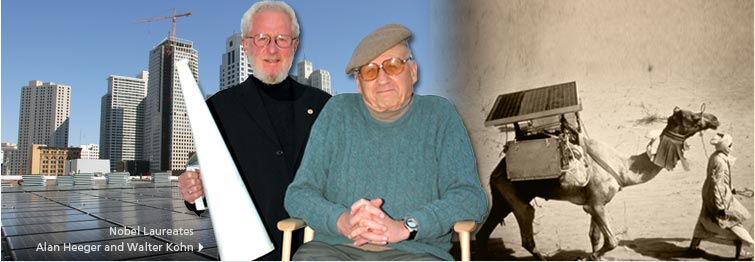 Alan Heeger and Walter Kohn photo banner